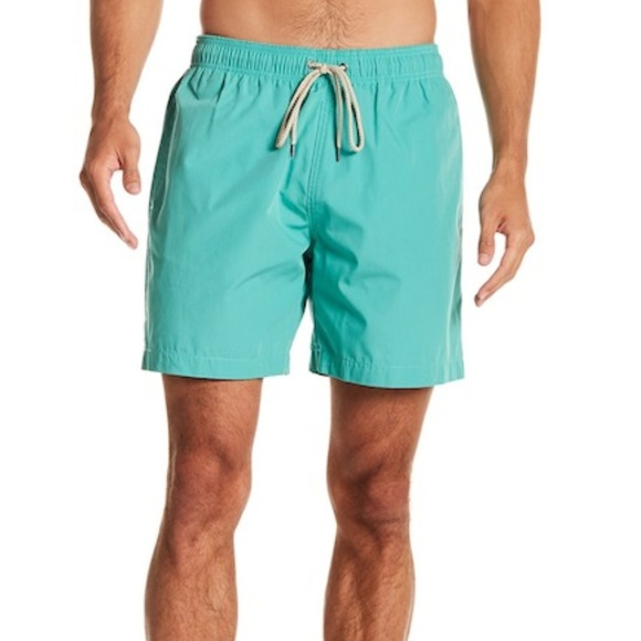 1b63b301bc9e2 Faherty Swim | Beacon Drawstring Trunks Sea Green | Poshmark